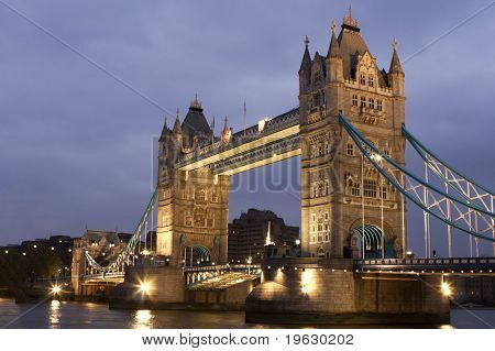 Tower Bridge At Night, London,