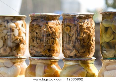 Homemade Canned Mushrooms