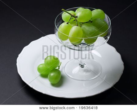 grape in glass