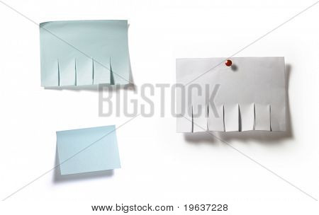 Full-size composite image of ad templates isolated on white background with light shadow