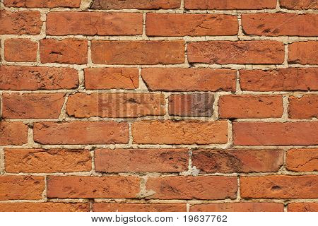 Brick wall horizontal texture