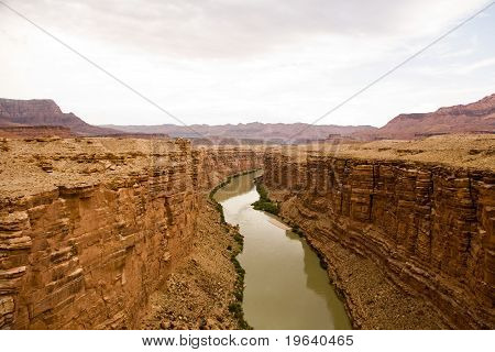 Mable Canyon, Colorado, Seen From Old  Navajo Bridge