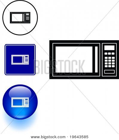 microwave oven symbol sign and button
