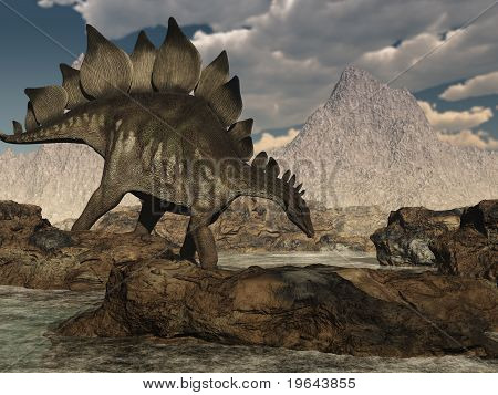 Stegosaurus Roaming