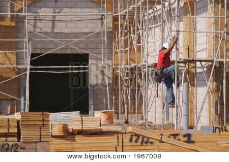 Carpenter Working Diligently