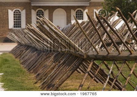 Colonial Stick Fence