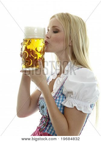 Woman with Beer Mug