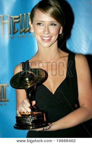 "Actress Jennifer Love Hewitt attends the 34th Annual Saturn Awards at the Hilton Hotel June 24, 2008 in Universal City, California. Hewitt won a Saturn Award for Best Actress for ""Ghost Whisperer""."