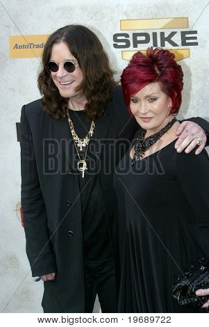 "CULVER CITY, CA - JUNE 5: Ozzy Osbourn & Sharon Osbourne arrive at the 4th annual Spike TV's ""Guy's Choice"" held June, 5, 2010 at Sony Studios in Culver City, CA."