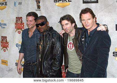 CULVER CITY, CA - JUNE 5:  Bradley Cooper, Quinton Jackson, Sharlto Copley and Liam Neeson arrive at the 4th annual Spike TV's