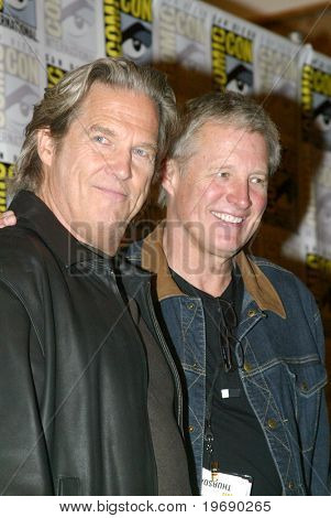 SAN DIEGO, CA - JULY 22: Jeff Bridges & Bruce Boxleitner after a press conference for