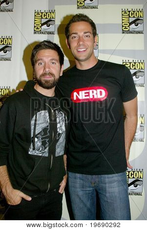 SAN DIEGO, CA - JULY 24: Actors Joshua Gomez &  Zachary Levi arrive in the press room, July 24, 2010, at the 2010 Comic Con International held in San Diego, CA.