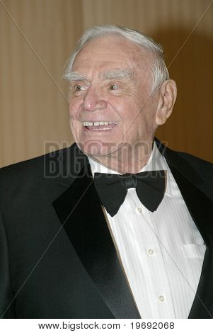 BEVERLY HILLS - FEB. 27: Ernest Borgnine arrives at the Norby Walters 21st Annual Night of 100 Stars Oscar Viewing Party & Gala on Feb. 27, 2011 at the Beverly Hills Hotel in Beverly Hills, CA.
