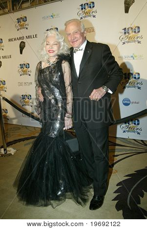 BEVERLY HILLS - FEB. 27: Buzz and Lois Aldrin arrive at the Norby Walters 21st Annual Night of 100 Stars Oscar Viewing Party & Gala on Feb. 27, 2011 at the Beverly Hills Hotel in Beverly Hills, CA.