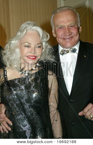 BEVERLY HILLS - FEB. 27: Buzz & Lois Aldrin arrive at the Norby Walters 21st Annual Night of 100 Stars Oscar Viewing Party & Gala on Feb. 27, 2011 at the Beverly Hills Hotel in Beverly Hills, CA.