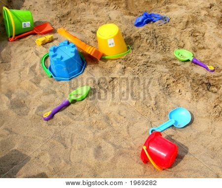 Sand Toys On The Beach