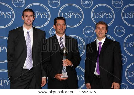 LOS ANGELES - JUL 14:  Ali Farokhmanesh, Ben Johnson and Adam Koch  in the Press Room of the 2010 ESPY Awards at Nokia Theater - LA Live on July14, 2010 in Los Angeles, CA ....