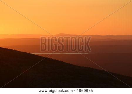 Background - Sunset Cadillac Mountain, Maine