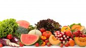 assorted fruits and vegetables poster