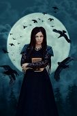 Witch In Full Moon poster