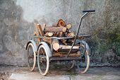 Wheelbarrow With A Load Of Wood