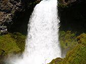 foto of mckenzie  - Sahalie falls on the McKenzie River in Oregon - JPG