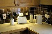 Domestic Kitchen Worktop poster
