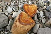 Copper Colored Broken Rock