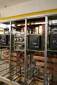 picture of busbar  - New control panel for high voltage. Used for power plants or energy production