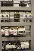 stock photo of busbar  - New control panel for medium voltage - JPG