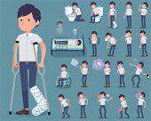 Flat Type White Short Sleeved Men_sickness poster