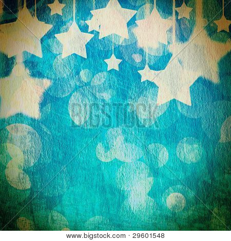 stars on the grunge paper, abstract background