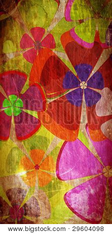 art grunge vintage floral background