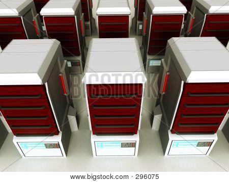 futuristisch-Serverfarm