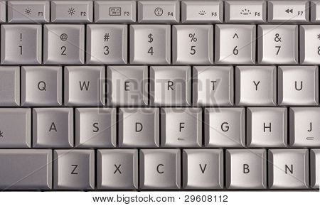 qwerty on computer keyboard