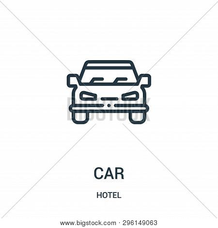poster of Car Icon Isolated On White Background From Hotel Collection. Car Icon Trendy And Modern Car Symbol F