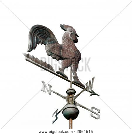 Weather Vane Isolated On White