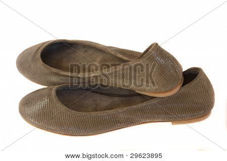 woman ballerina shoes