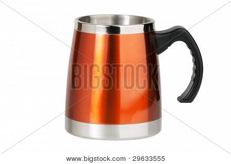 The Big Red Cup - Thermos With Black Handle