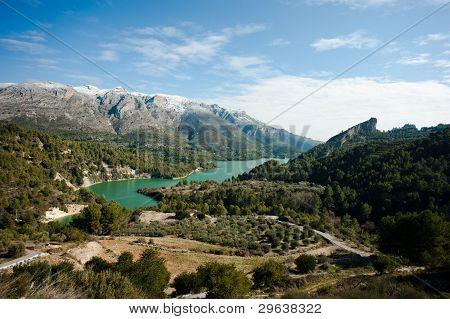 Guadalest Valley Winter Scene