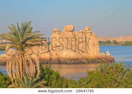 View Of The Island In Nasser Lake ( Egypt)