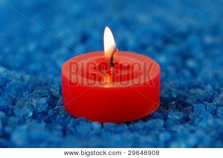 Candle On The Spa Salt