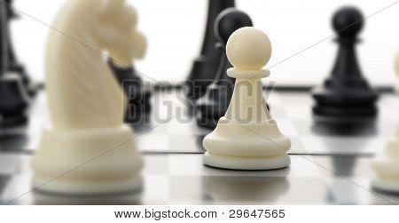 White Chess Pawn