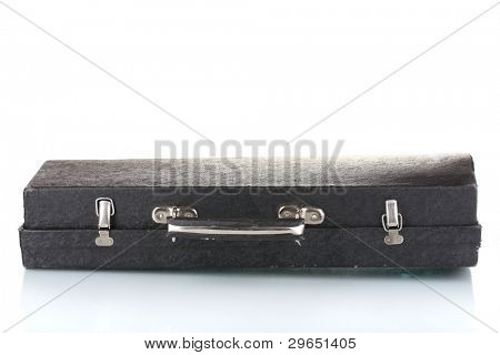 old case for musical instrument isolated on white