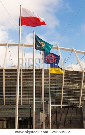 Kyiv, Ukraine - .december 11: The Olympic Stadium Under Construction For The Uefa Euro 2012 On Decem