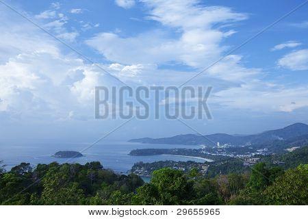 Aerial View Of Kata Noi, Kata And Karon Beach