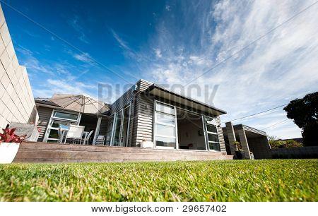 Exterior of a Modern Designer Home