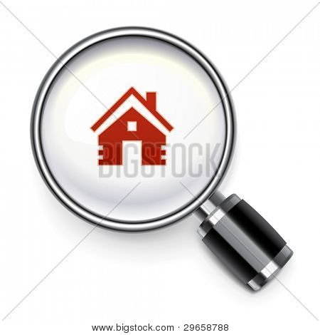 Real estate search concept