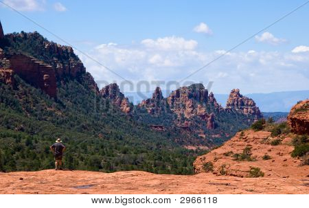 Single Hiker In Sedona