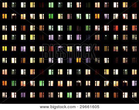 nahtlose Textur Nacht windows